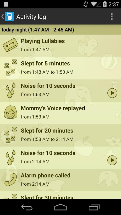 Baby Monitor & Alarm - screenshot