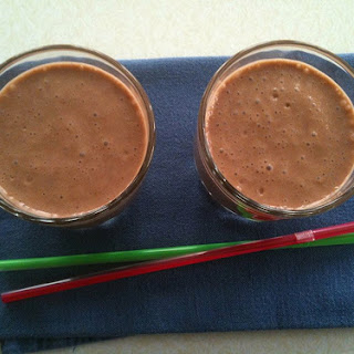 Chocolate Almond Smoothies.