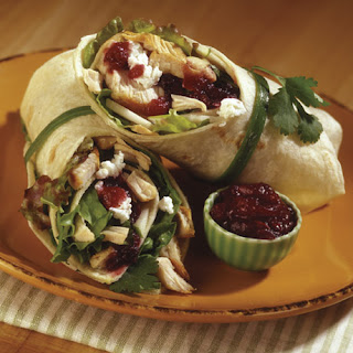 Spicy Cranberry Turkey Wrap.