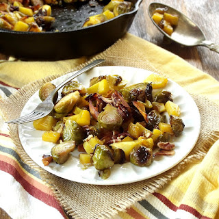 Maple Roasted Brussels Sprouts and Butternut Squash with Coconut Bacon