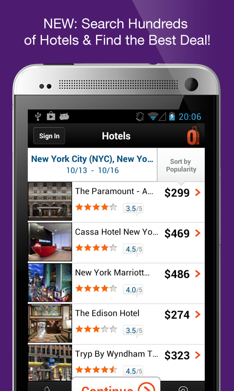 ALL NEW: Hotels on the CheapOair Android app! Exclusive introductory ...