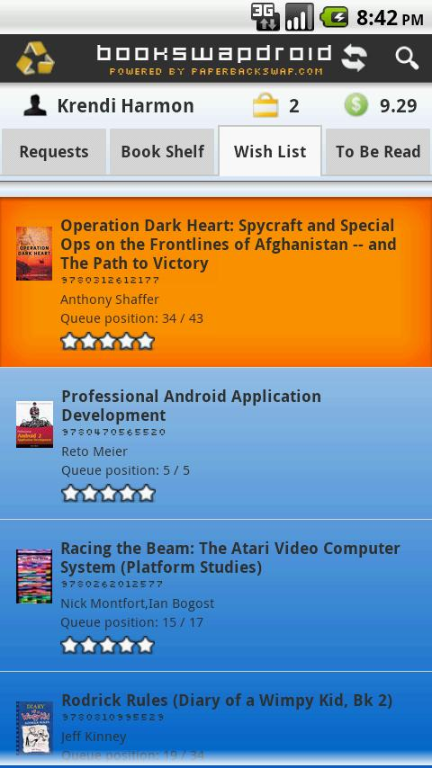 BookSwapDroid FREE - screenshot