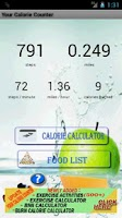 Screenshot of Your Calorie Counter