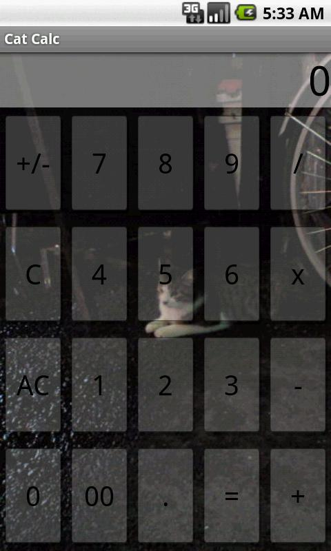 Calculator Cat - screenshot