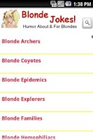 Screenshot of Blonde Jokes!