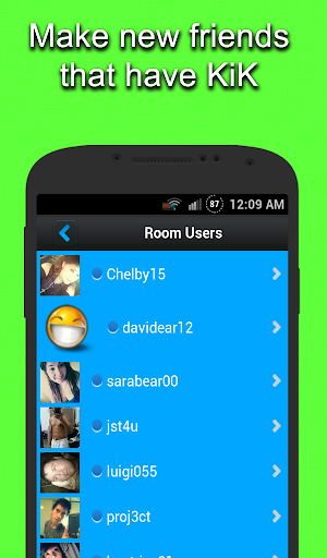Chat Rooms for KIK