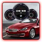 BMW i640 Compass Clock Widget