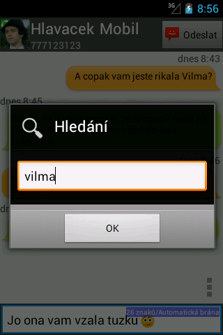 Oskárek SMS Plus- screenshot