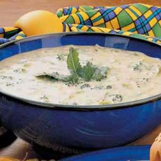 Cheesy Broccoli Soup.