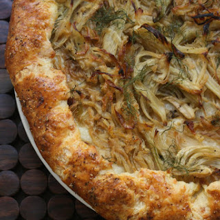 Fennel and Onion Galette with Gruyere Crust