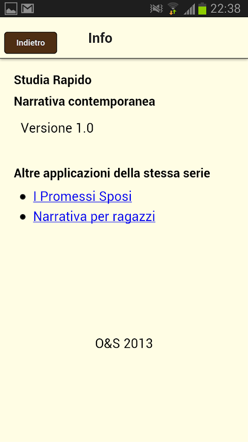 Studia rapido: narrativa - screenshot