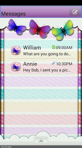 Butterflies GO SMS THEME