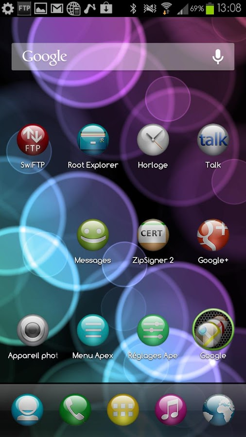 Sphere Theme GO/Apex/Nova HD - screenshot