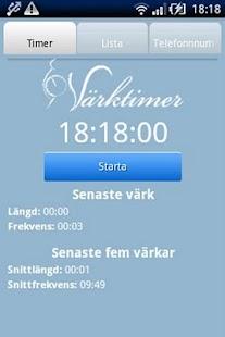 Värktimer- screenshot thumbnail