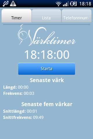 Värktimer- screenshot