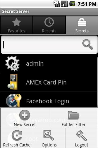 Password Manager Secret Server - screenshot