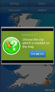 UK geography map quiz - BETA - screenshot thumbnail