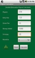 Screenshot of Tournament Payout Calculator