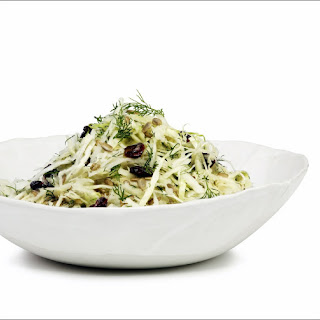 Kohlrabi and Cabbage Salad with Maple Lemon Dressing.