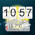 14 days Weather & Flip Clock icon