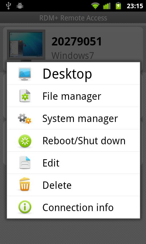 RDM+ Remote Desktop - screenshot