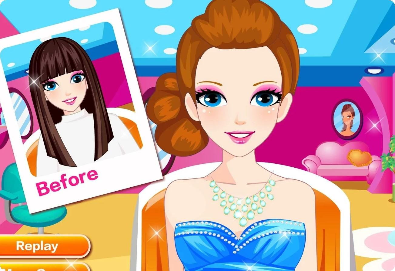 Hair Styling Games Online: Emma's Hair Salon Kids Games