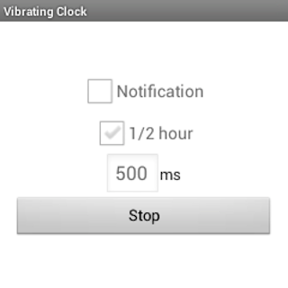 Vibrating Clock for smartwatch