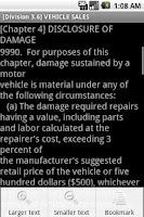 Screenshot of California Vehicle Code