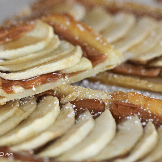 Honeyed Apple Peanut Butter Tart.