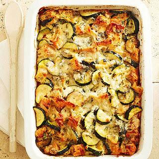 Four-Cheese Zucchini Strata.