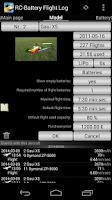 Screenshot of RC-Battery Flight Log