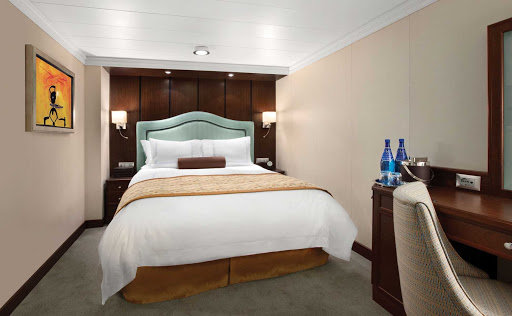 Oceania_OClass_Inside_Stateroom-3 - Oceania Riviera's Inside Staterooms will offer you a private, calm setting where you can unwind during your cruise.