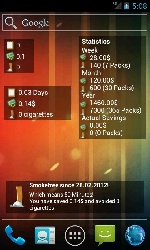 aha!Smokefree - screenshot