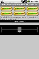 Screenshot of Multiscreen with slider