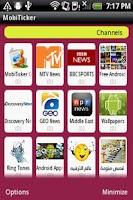 Screenshot of Real Mobile Ticker