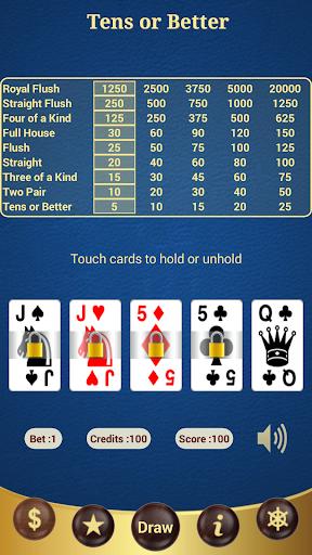 Tens or Better Poker