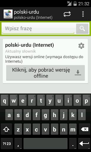 Polsko-Urdu słownik