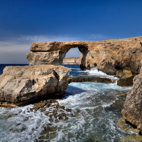 The Azure Window, Dwerja, Gozo, Malta by Dave Byford - Landscapes Waterscapes ( cliffs, malta, gozo, waves, dwerja, sea, the azure window, beach, coastline, rockpool, rocks, coast,  )