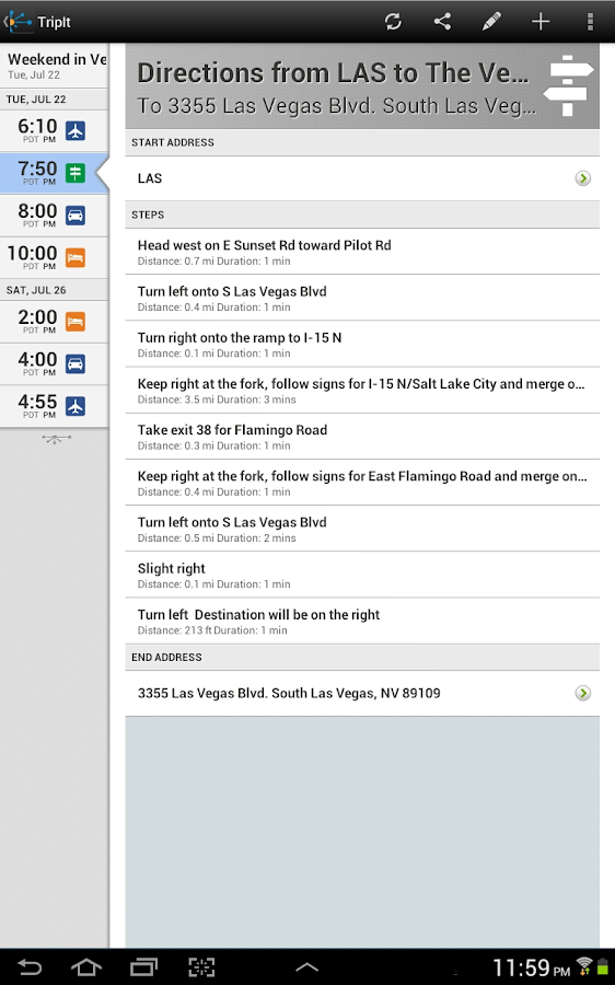 TripIt Travel Organizer No Ads - screenshot