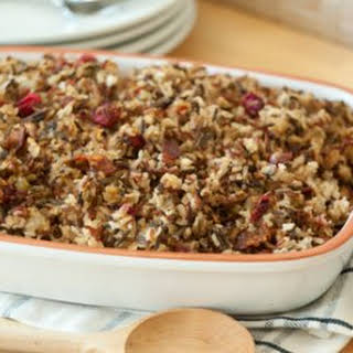 Bacon, Cranberry and Mushroom Rice Stuffing.