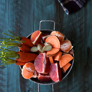 Winter Citrus Booster with ginger and sweet potato.