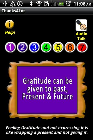 Thanks A Lot gratitude habit