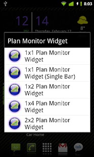 Plan Monitor Widget - screenshot thumbnail