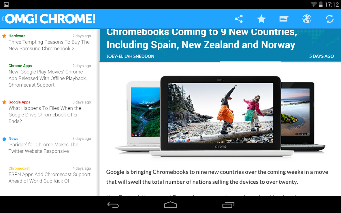OMG! Chrome! for Android - screenshot