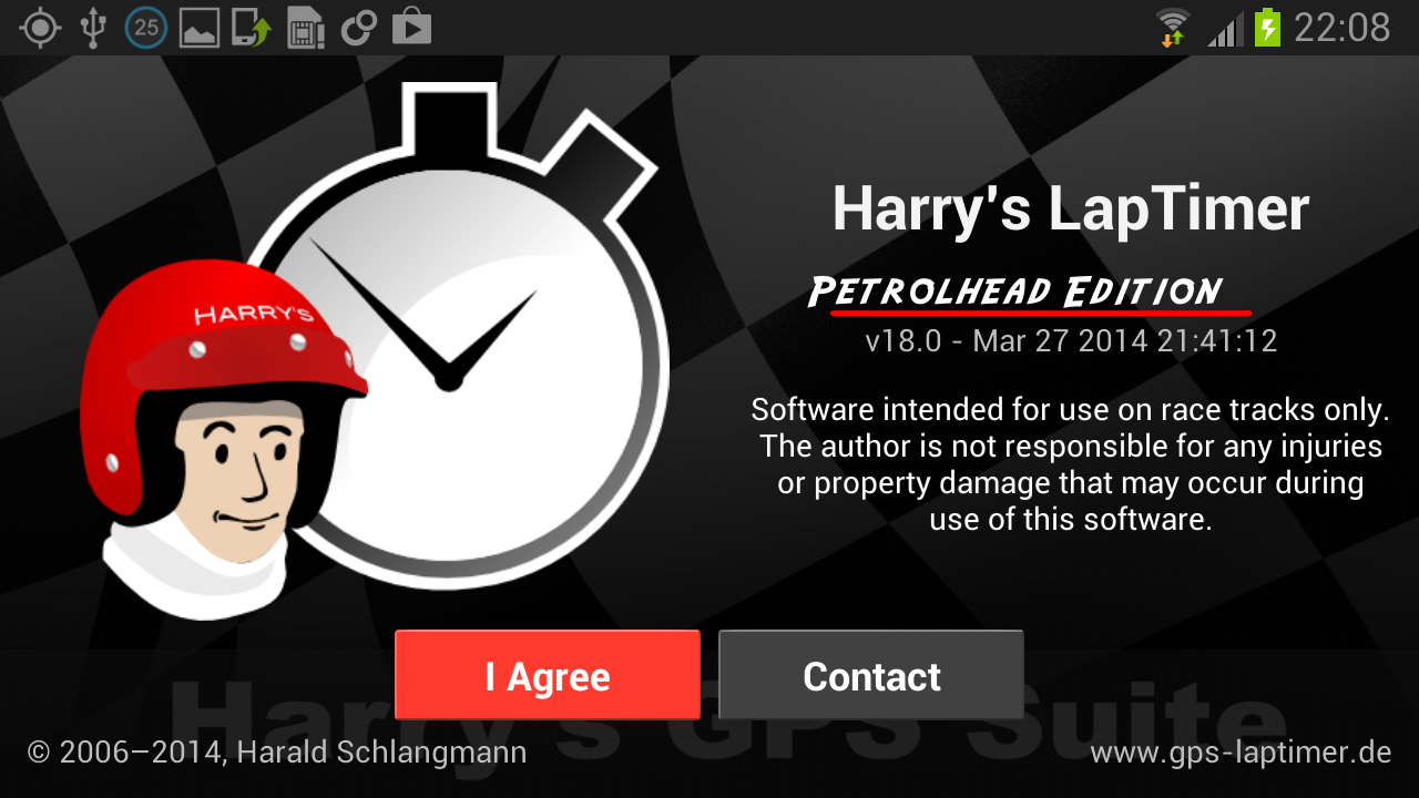 Harry's LapTimer Petrolhead- screenshot