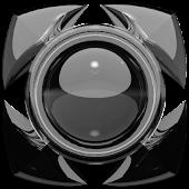Next Launcher Theme glas black