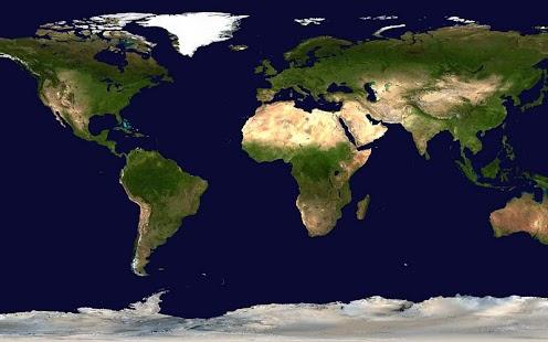 World map - Europe centered