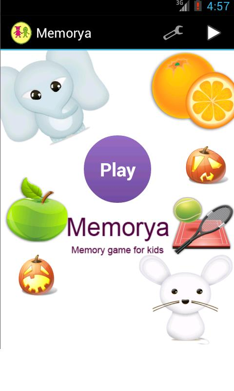 Memorya - Kid's memory game - screenshot