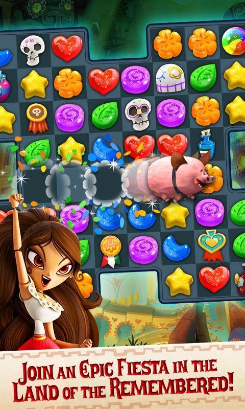 Sugar Smash: Book of Life - Free Match 3 Games. Screenshot 1