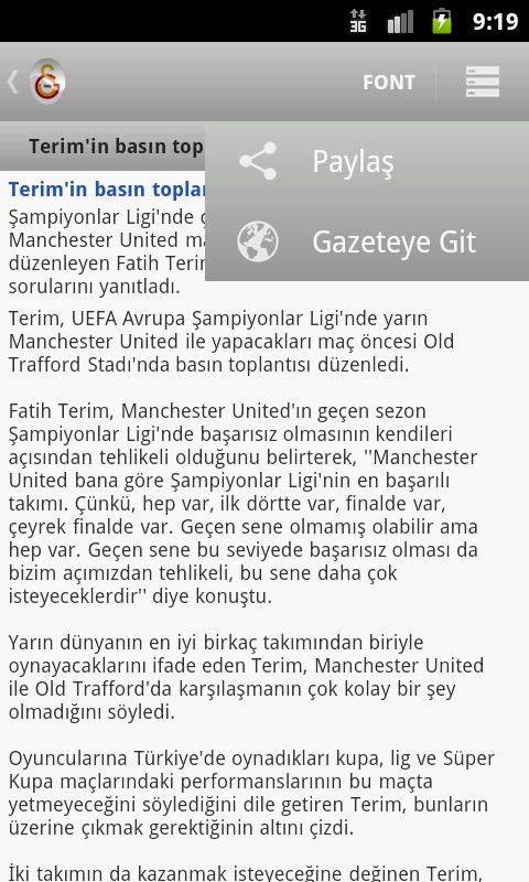 Galatasaray Haber - screenshot